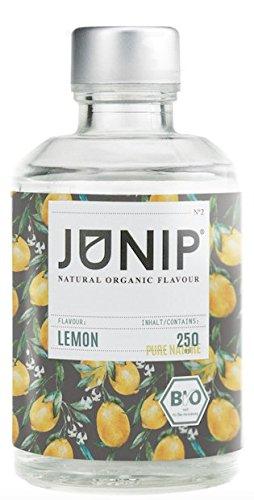 JUNIP Organics - natürliches Bio Aroma (Zitrone), 250 ml Flasche für 50 Gläser Wasser