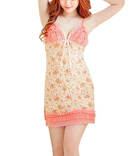 Dissa® Mode Shivering Nuisettes Sexy Lingerie, vêtements de nuit, abricot abricot