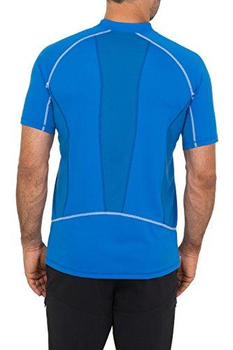 VAUDE Herren T-Shirt Men's Roseg Half Zip Shirt II Hydro Blue