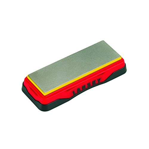41DP3I99wZL. SS500  - Lansky Sharpeners Unisex's Ultra Fine Diamond Bench Stone-Red, 6 Inch