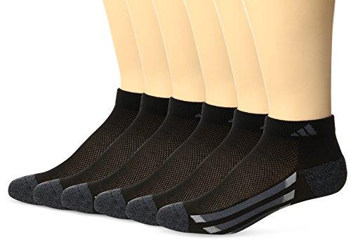 adidas Youth Graphic Medium Low Cut Strumpf (6er Pack), Jungen, 975756, Black/Black-Onyx Marl/Light Onyx/Onyx, Large (Mesh Athletic Liner Socke)