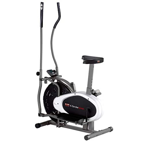 41DP4JSgG0L. SS500  - Body Sculpture BE5925 2-in-1 Dual-Action Air Elliptical & Bike | Adjustable Seat | Adjustable Tension | Track Your Progress | More