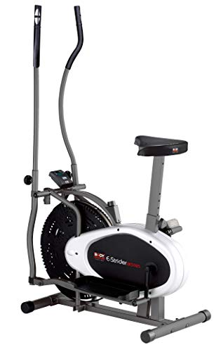 Body Sculpture BE5925 2-in-1 Dual-Action Air Elliptical & Bike | Adjustable Seat | Adjustable Tension | Track Your Progress | More