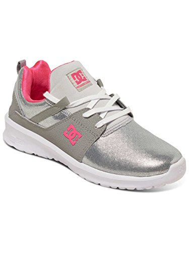 DC Shoes Heathrow Se J, Baskets Basses femme Argent