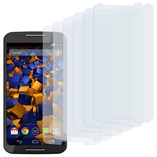 mumbi Schutzfolie kompatibel mit Motorola Moto X 2. Generation Folie klar, Bildschirmschutzfolie (6X)