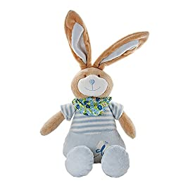 f8d1325155a Mousehouse Gifts Stuffed Animal Plush Blue Bunny Rabbit Soft Toy for Newborn  Baby Boy Gift Present