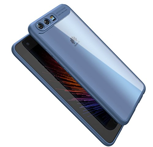 vanki Cover Huawei P10 Plus, TPU Silicone Custodia Morbida Cristallo Trasparente Sottile Bordo Proteggi Copertura Completa Cover Case per Huawei P10 Plus (Huawei P10 Plus, Blu)
