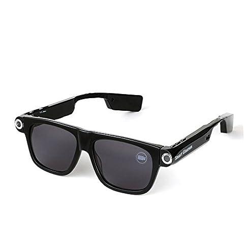 Spardar Camera Sunglasses 1280x720p Photo and Video CSR4.0 Bluetooth Doze Reminding 32GB Built-in TF Card Mini Emergency Flashlight Anti