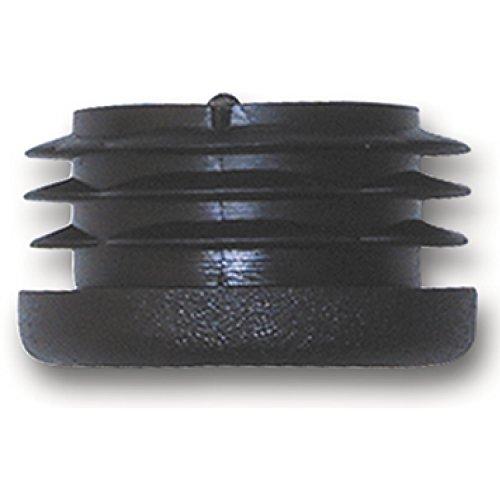 SECOTEC Fußkappe für Rohr ø 30 mm | schwarz | Kunststoff Stopfen | Endkappe | Endstopfen | 4 Stück