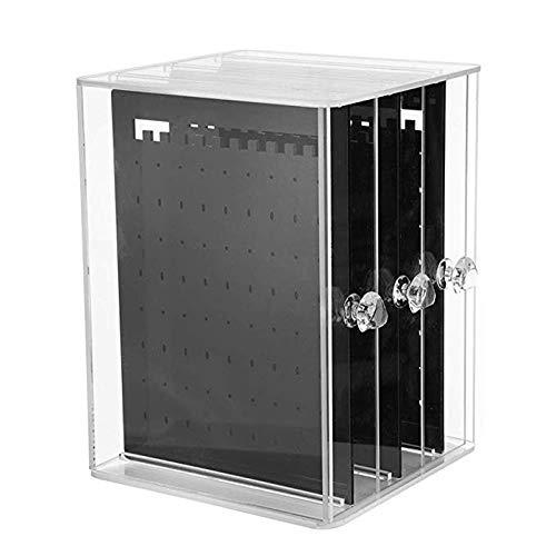 Preisvergleich Produktbild XZANTE 3 Vertikale Schublade Ohrring Halter Schmuck Aufbewahrungs Box Transparente Display Halter Schmuck Staender Aufbewahrungs Koffer Schwarz