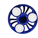 Premsons Fidget Spinner Hand Toy with LED Light and Fan Look Spin - Blue
