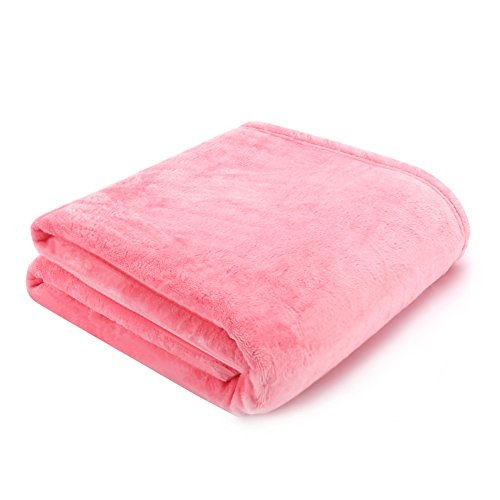 Premium Hundedecke Fleece Rosa - Reversible Kiste Bett Decken für Große Mittel Kleiner Welpe Katze Hero Dog (120 * 120 cm) (Kiste Decke)