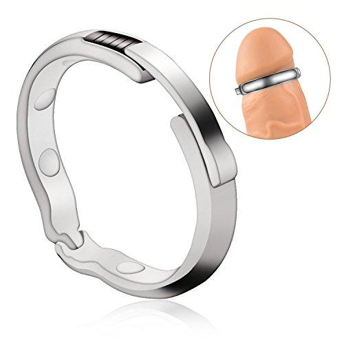 27-30mm Metall-Penisring für die Behandlung von Vorhaut durch Magnettherapie Edelstahl (Φ27-30mm)