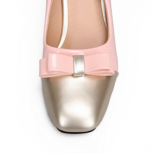 per donna in BalaMasa Scarpa tacchi colori pelle alti motivo assortiti Pink da verniciata pompe 6xPRT