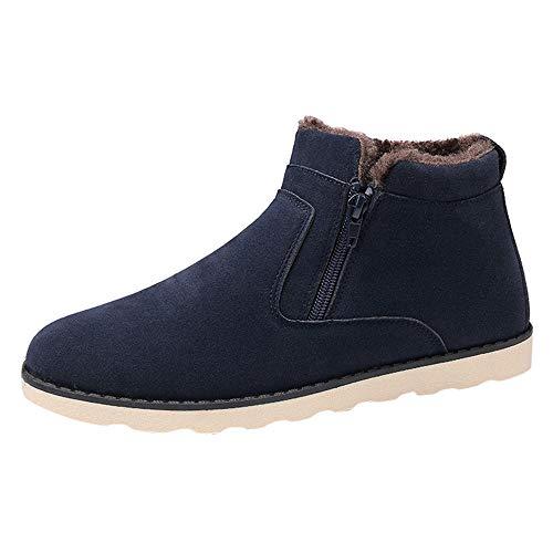 LuckyGirls Chaussures Bottes Hiver De Neige Homme Chaude suède Boots Fourrées Bottines Courts Mode Doublure Cheville Chaussu