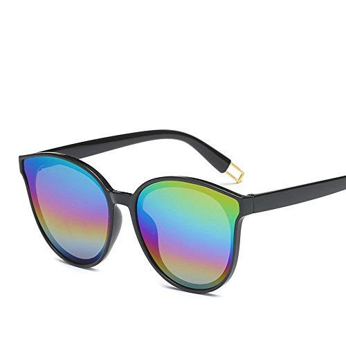 BiuTeFang Mens Sunglasses Women Siamese Glasses Men and Women Dazzle Color Chao Person I Personality Big Frame Shape Decoration Flat Sunglasses