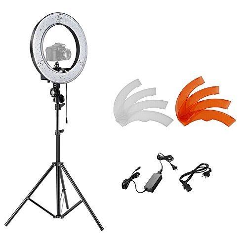 """Neewer 36W 180LED Ringleuchte mit Stand Set:14\""""/36cm Äußere SMD 5500K Dimmbare Ringlicht,190cm Stativ und Blitzschuh für Fotografie Studio"""