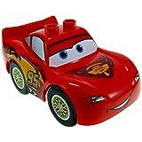 1 x Lego Duplo Fahrzeug Disney Pixar Cars Figur Lightning McQueen rot mit Piston Cup Logo 88765pb03c01