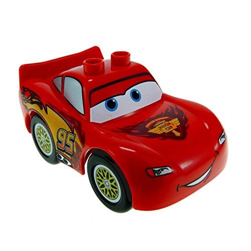 1 x Lego Duplo Fahrzeug Disney Pixar Cars Figur Lightning McQueen rot mit Piston Cup Logo 88765pb03c01 (Lightning Duplo)