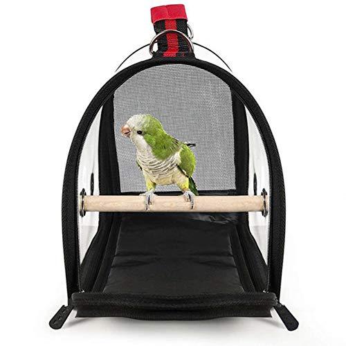 MUJING Gabbia per pappagalli Trasparente Trasparente PVC Traspirante Borsa da Viaggio per pappagalli Trasporto da Viaggio...