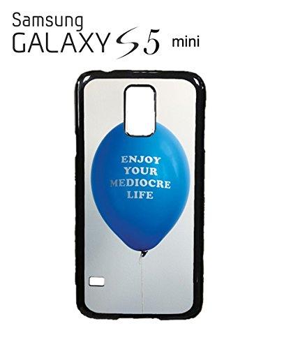 Enjoy Your Mediocre Life Funny Baloon Balon Mobile Phone Case Samsung Galaxy S4 Black Blanc