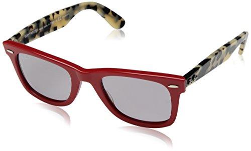 Ray-Ban Unisex-Erwachsene 0RB2140 1243P2 50 Sonnenbrille, Red/Greypolar,