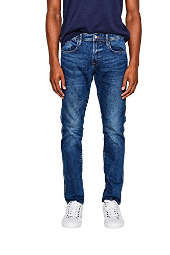edc by ESPRIT Herren Slim Jeans 087CC2B004, Blau (Filthy Medium Wash 902), W36/L34