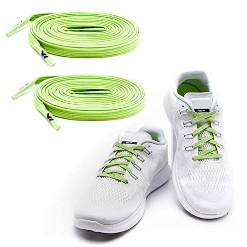 MAXX laces Flache elastische Schnürsenkel mit Einstellbarer Spannung Schuhbänder ohne Binden komfortable Schuhbinden einfach zu bedienen Passt zu jedem Schuh -