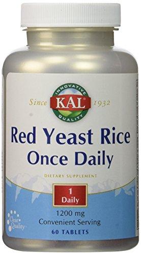 Kal - Riso rosso del lievito una volta giornalmente - 60 Ridurre in (Kal Riso)
