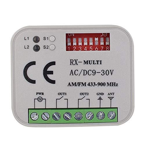 Kaser rx multi ricevitore universale 2 canali telecomandi radio ricevente faac nice bft came multimarca frequenza 433 o 868 mhz 12-30v ac dc codice fisso rolling code automazione