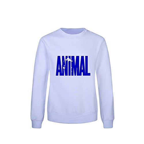 Meijunter lettera stampata Casuale Sweater Cappuccio T-shirt Gli sport Cotone Style 4
