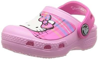 crocs CC Hello Kitty Plaid Clog EU 14621-6I6-125, Mädchen Clogs & Pantoletten, Pink (Carnation/Neon Magenta 6I6), EU 29-31