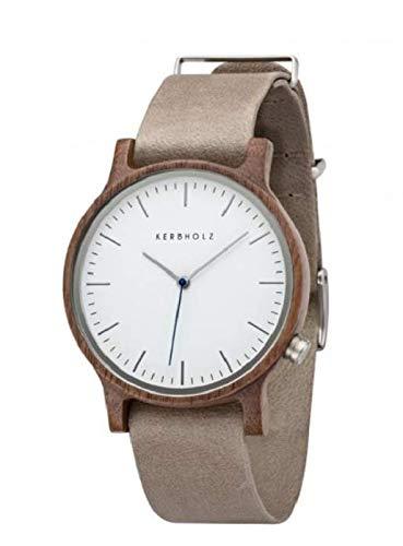 Kerbholz Unisex Erwachsene Analog Quarz Uhr mit Leder Armband 0705184599882