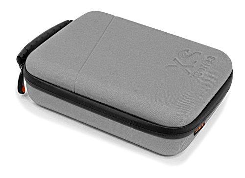 X-Sories CAPX1.1 Capxule Small Schaumstoff Reisetasche für GoPro (kompatibel mit GoPro HERO3/3+/4, Teleskopstab) silber (Gopro Silber-accessoires 3 Hero)