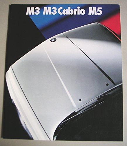 Prospekt BMW M3 M3Cabrio M5 (Baureihen E30 / E34) - von 2/1989 - 35 Seiten - Großformat - Hochglanzoptik - deutsche Ausgabe - Rarität