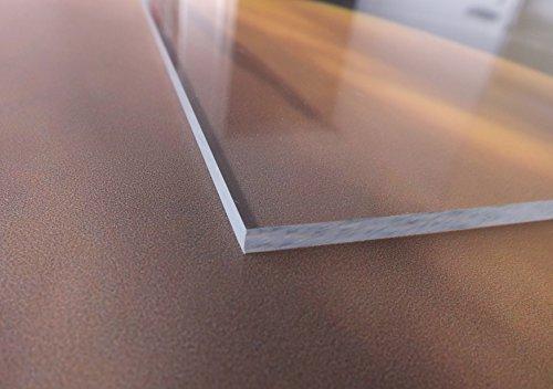 Acrylglas / Plexiglas | PMMA | transparent | glasklar | UV beständig | beidseitig foliert | im Zuschnitt | 4 mm stark (50x50 cm) - 4