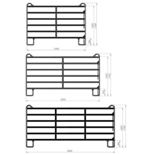 Panel - Zaunelement 2,4 m mit Schnell-Kettenverschluss -