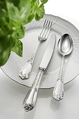Sweet Home - EPNS Silver Plated TABLE FORK Floreale style - cod. 505700-02 - L. 20,5 cm