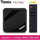 RKTech Tanix TX3 Max TV Box Amlogic S905W Android 7.1 With New Alice UX 2GB RAM DDR3 + 16GB ROM 2.4GHz Wi-Fi 4K HD Home Media Palyer