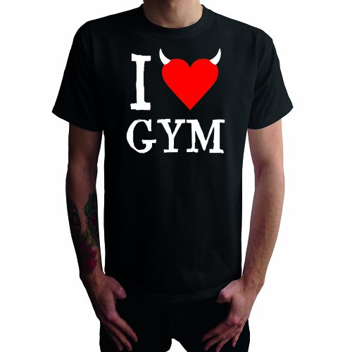 I don't love Gym Herren T-Shirt Schwarz