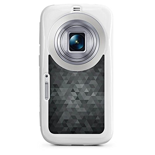 Samsung Galaxy K Zoom Hülle Silikon Case Schutz Cover Dreiecke Modern Dunkel