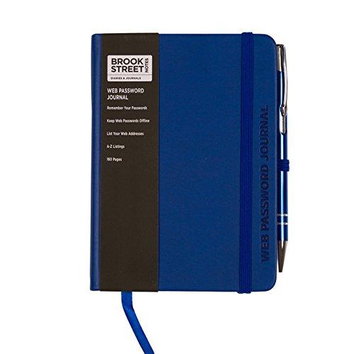 Internet-/Passwort-Notizbuch, A6 A6 dunkelblau