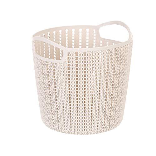 MINISO Medium Plaited Round Storage Bucket (Khaki)