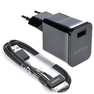 Samsung ETAP10 Chargeur secteur USB + câble P30 pour Galaxy Tab