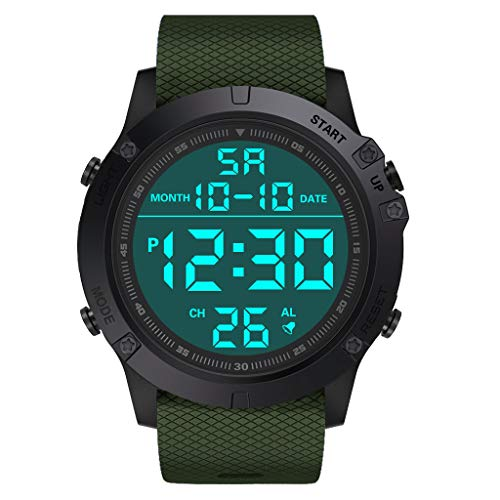 Haludock Herren Military Sportuhr LED Digital Wasserdicht Uhr (Loop Strap G-shock Band Watch)