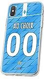 MYCASEFC Coque Foot Marseille iPhone XR Coque Football Personnalisable en Silicone. Housse de Smartphone personnalisée et fabriquée en France en TPU