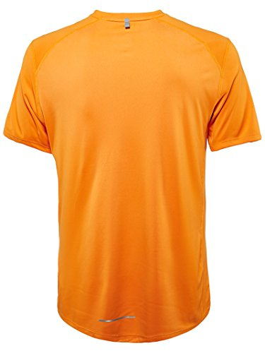Nike Damen Kurzarm Shirt Dri-Fit Miler T-Shirt Naranja (Vivid Orange / Reflective Silv)