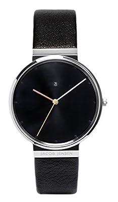 Jacob Jensen Herren-reloj analógico de pulsera de cuarzo cuero Dimensión Series Item No.: 842 de JACOB JENSEN
