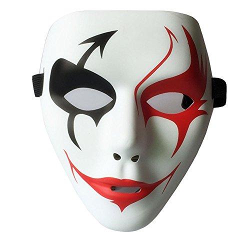 een Maske PVC Masquerade Paintball Full Face Skeleton Maske Maskenball Kostüm Karneval Party Weiß (Herren Masquerade Masken)