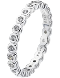 Virtue Silver Stackable VRS4011 Multi Stone Round Cubic Zirconia Ring